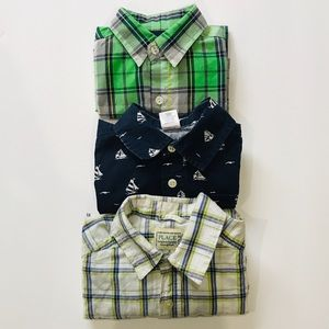 3 Short Sleeve Button Down Shirts Size 5/6